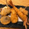 串揚げ 深澤亭 - 料理写真:しいたけ、エビ、とり、あとなんか(笑)