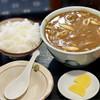 つる岡 - 料理写真:カレーうどん+ご飯小