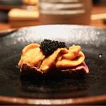 鳥茂 - 雲丹キャビア炙り肉