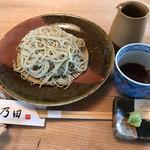 手打そば 乃田 - もりそば830円(税込)