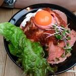ブッチャー - ローストビーフ丼✧*。