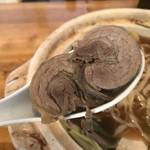 味処 高千代 - 猪骨スープラーメン鍋(1000円)猪肉チャーシュー