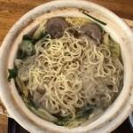 味処 高千代 - 猪骨スープラーメン鍋(1000円)