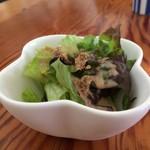 カフェボール - まずは野菜サラダ、シンプルなんですが美味しいんですよ♪(2017.5.27)