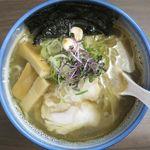 麺や 玄鳥 - あっさり煮干し中華そば塩のアップ