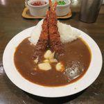 カフェ・エッシャー - 大えびフライとエリンギのカリー(サラダ、ドリンク付き 850円)