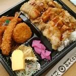 ぷちめいく ふぁくとりぃ - 料理写真:ミックスフライと豚バラ飯