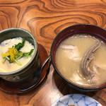 新富鮨 - 茶碗蒸しとあら汁