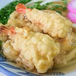 桑島製麺所 - えび天が2尾