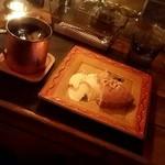 グランジ カフェ ブルーストロベリー - 料理写真:ル・クルーゾワ&アイスコーヒー