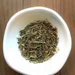 柳桜園茶舗 - 茶葉は淡い緑色でした