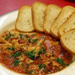 サイドウォーカー - トリッパ(牛胃(ハチノス)のトマト煮)。2011年2月撮影。