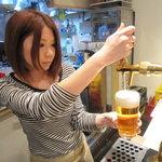 ブルックリンダイナー - 冷たいビール♪