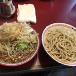 ラーメン☆ビリー - つけ麺:大盛り、野菜マシ