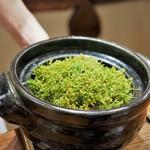 傳 - 花山椒とサーロイン・わらびの炊き込みご飯