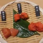 九州 熱中屋 - 突き出し明太子 味は良し