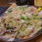 九州 熱中屋 - 皿うどん 山盛り・・・