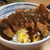 たつ - 料理写真:ジャンボカツ丼。特製デミグラスソースがかかって美味しいです。