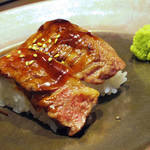 焼肉トラジ - 【ランチ】 炎のジャン麺&握りセット \1500