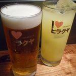 ヒラクヤレガーレ - 生ビールとシークワーサーサワー