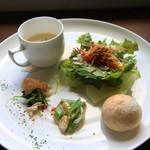 コバコ - 3種の季節野菜の前菜・パン・サラダ