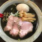 麺屋大河 - 黒味噌ラーメン 750円 + お得盛り350円 + 麺大盛り100円