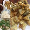 たかま - 料理写真:ホルモン天ぷら定食にしましょう!