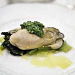 ペレグリーノ - 牡蠣のソットオーリオ 小松菜とサルサヴェルデ添え