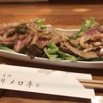 メリメロ亭 - 料理写真:和牛のたたき柚子胡椒だれ