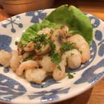 メリメロ亭 - 帆立貝柱と小海老のペペロンチーノ炒め