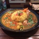 67677119 - 鶏ともちのお雑煮カレー、南インド マンゴーチキンカレー