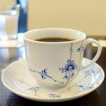 Cafe Kuromimi Lapin - バタートーストモーニングセット750円のプラチナブレンド