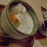 トリトリノキ - お餅入り抹茶ミルクぜんざい