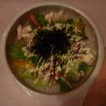 とらのすけ - 京水菜と蒸し鶏 サラダ