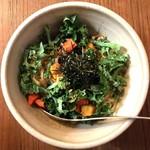 ユウジ ラーメン - 季節野菜と麦味噌あえ麺