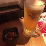 博多 魚人 - 生ビールからスタート