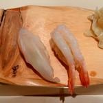 札幌シーフーズ - 札幌シーフーズ (五十七番寿し)@新千歳空港 甘えび、松川がれい