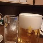 つちの子 - 生ビール特大❗比較は中ジョッキ