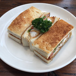 ワーズカフェ - エビフライサンド 750円
