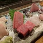 天史朗寿司 - 刺し身盛り合わせ おまかせ