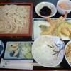 長寿庵 - 料理写真:'17/05/28 天ぷら御前ともりそばセット(税込800円)