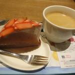 シェフズ ベーカリー - イチゴムース+コーヒー