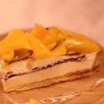 フルーツケーキファクトリー - マンゴーとオレンジのタルト