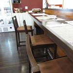 レストラン タケウチ - 内観:カウンター席