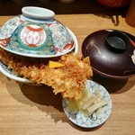 天丼 金子屋 - 天ばら(上)1,380円+味噌椀120円