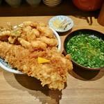 天丼 金子屋 - 天ばら+味噌椀