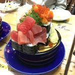 67701696 - まぐろ・サーモン・いくらのこぼれ寿司