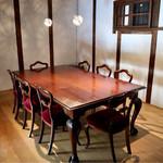明道町中国菜 一星 - 奥の蔵にある個室テーブル席