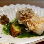 明道町中国菜 一星 - 甘鯛、水ナス、生海苔のソースとちりめん山椒