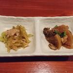 串焼き 鳥吉 - お通し(300円+税)